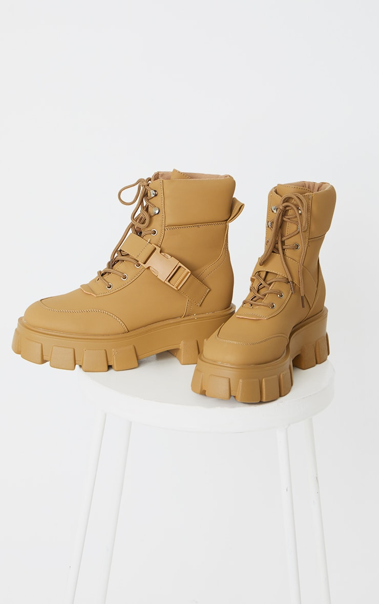 Sand Extreme Chunky Sole Buckle Clasp Hiker Boots 4