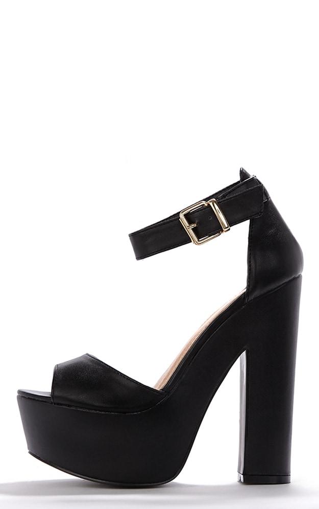 Madison Black Platform Sandal 1