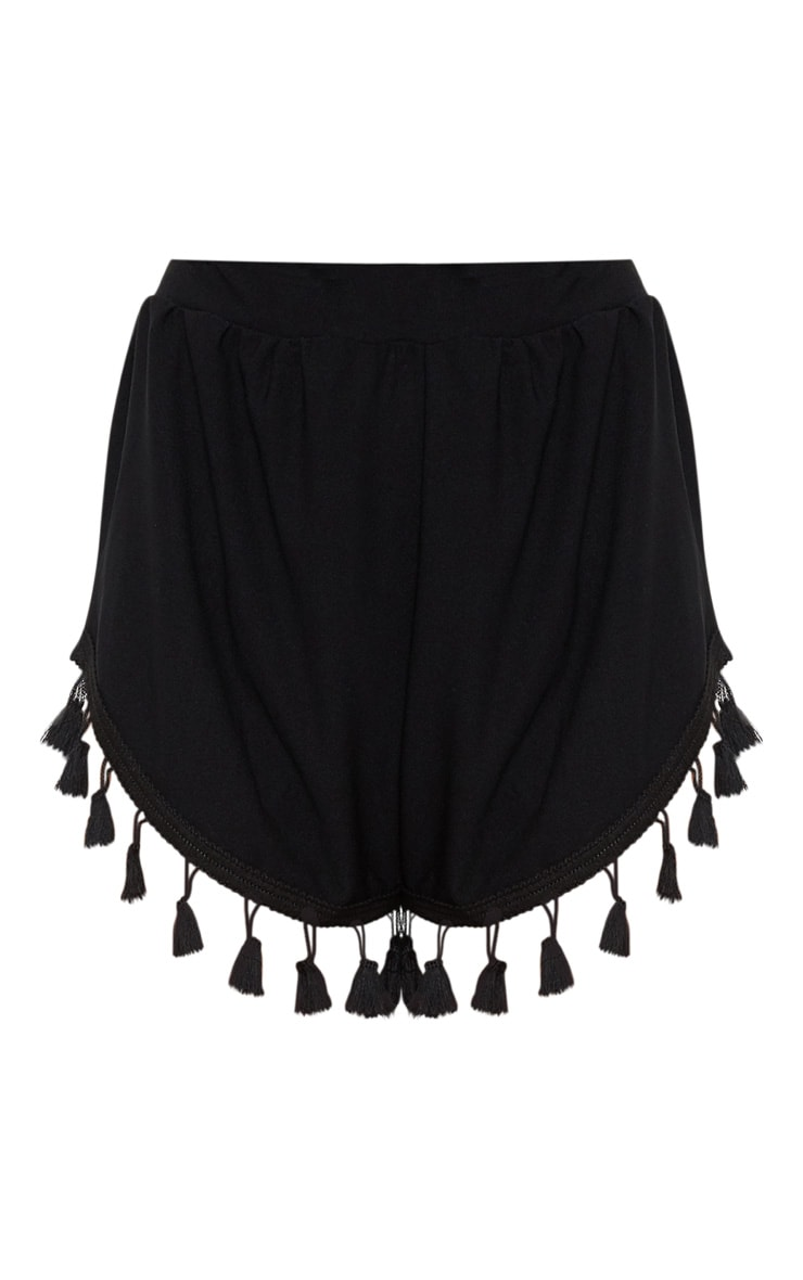 Black Tassle Trim Detail Short 3