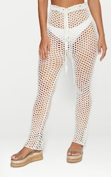 White Crochet Pants 2