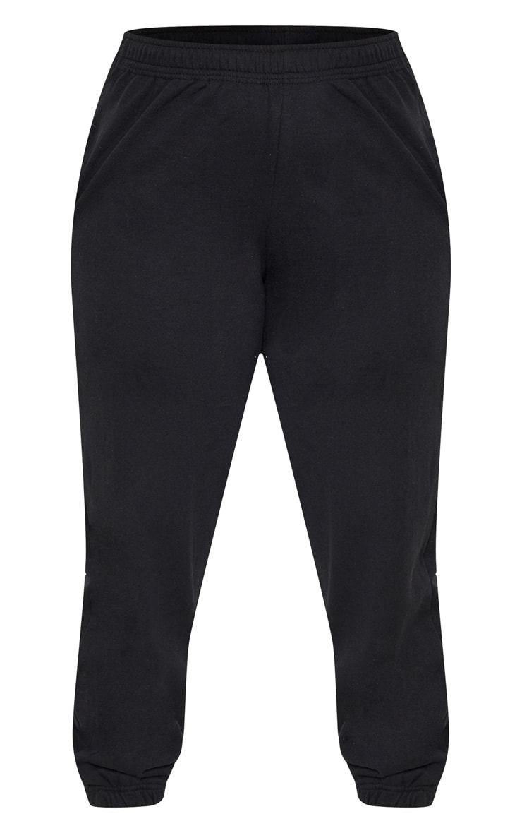 Plus Black Casual Sweat Jogger 3