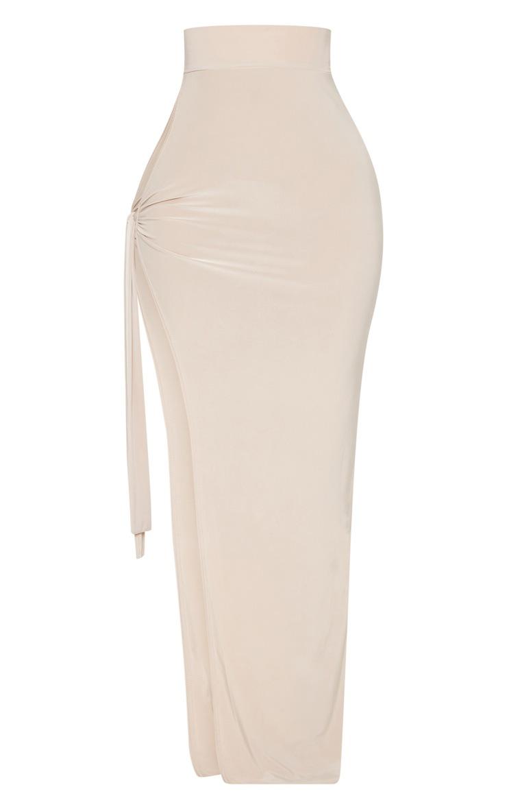 Shape Stone Slinky Tie Detail Maxi Skirt 3