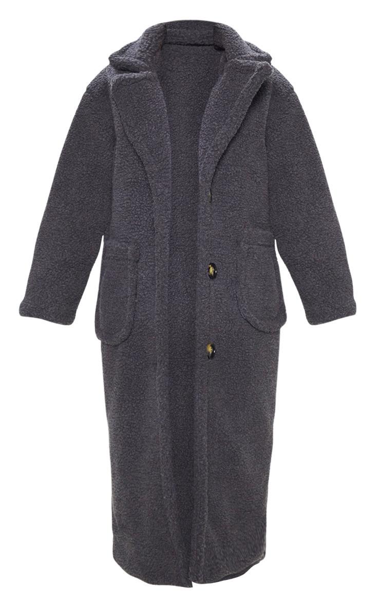 Charcoal Maxi Borg Coat 3