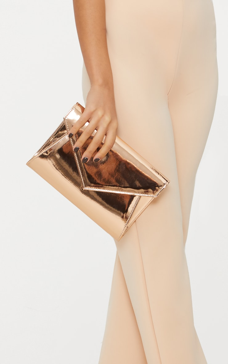 Rose Gold Chain Cross Body Bag 2