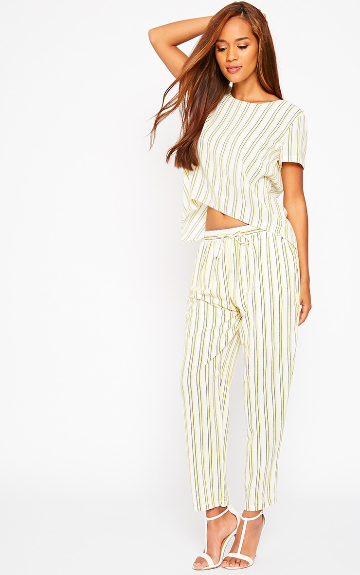 Kali Cream Stripe Trousers 1