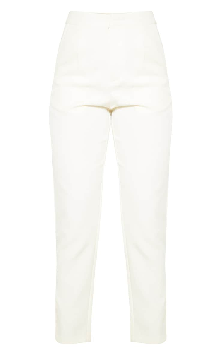 Cream Cropped Pants 3