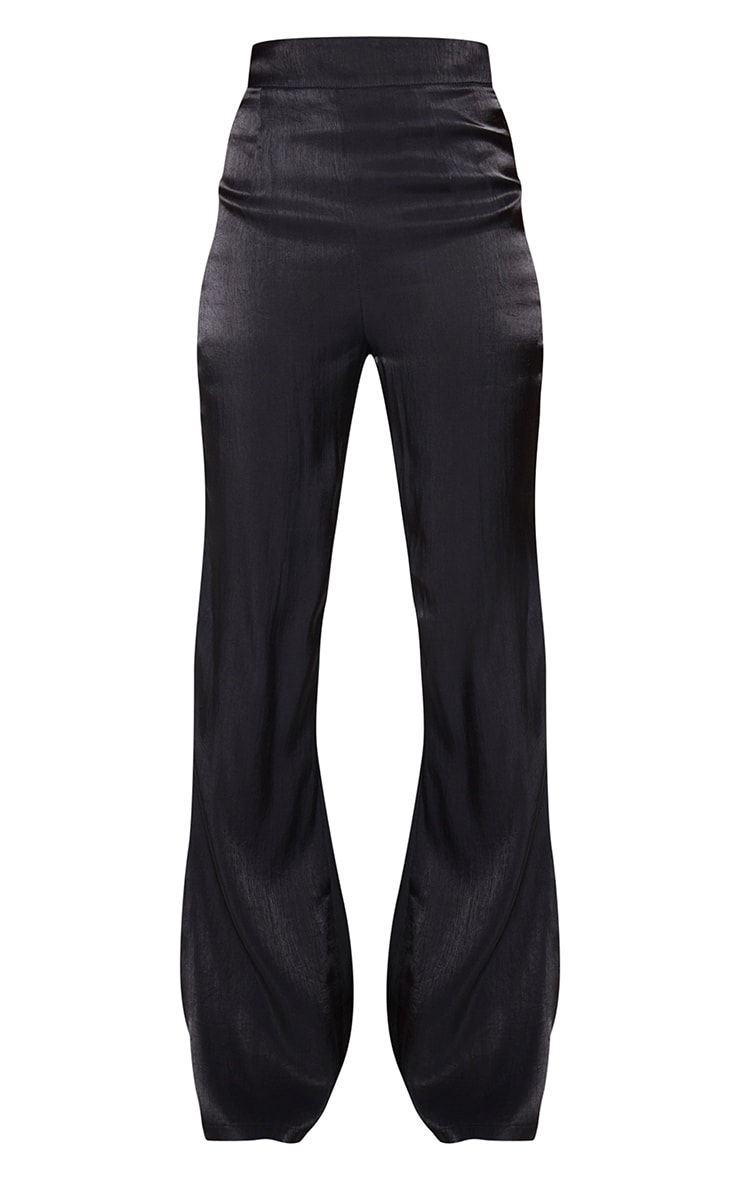 Black Iridescent Flared Pants 5