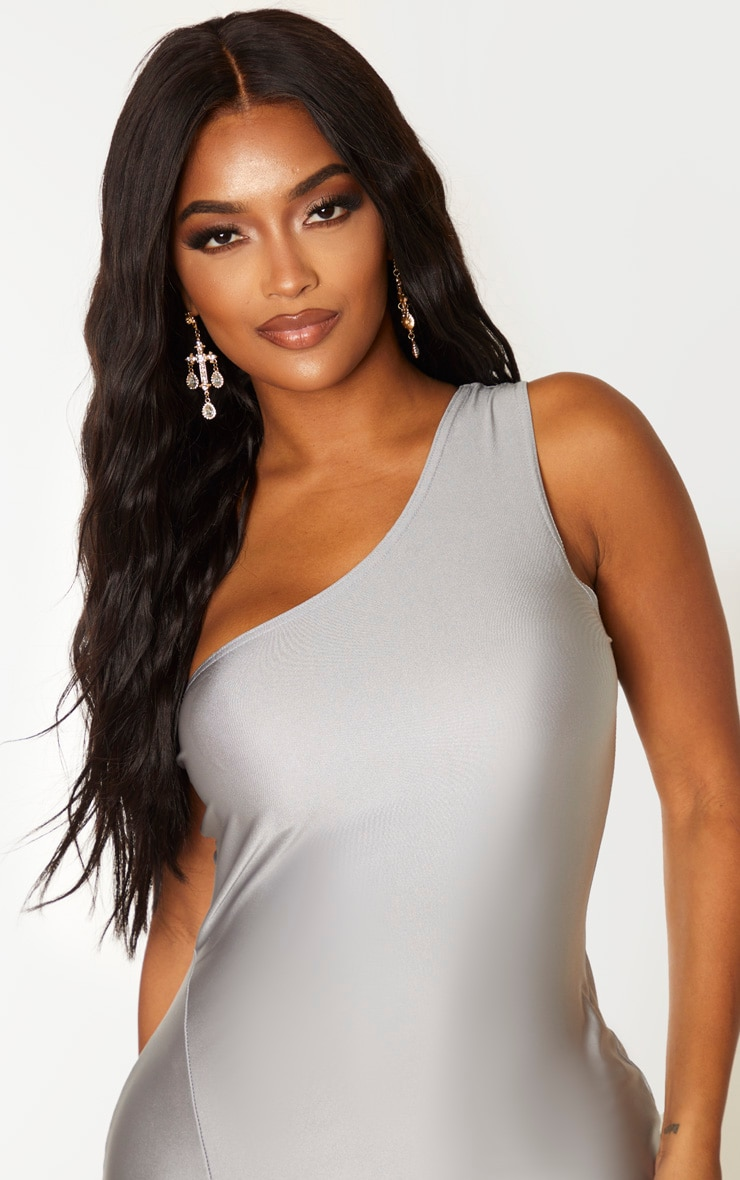 Shape Silver Disco One Shoulder Bodycon Dress 5
