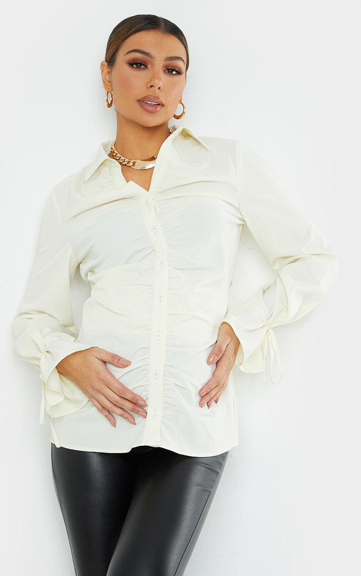 Maternity Stone Ruched Bump Detail Blouse