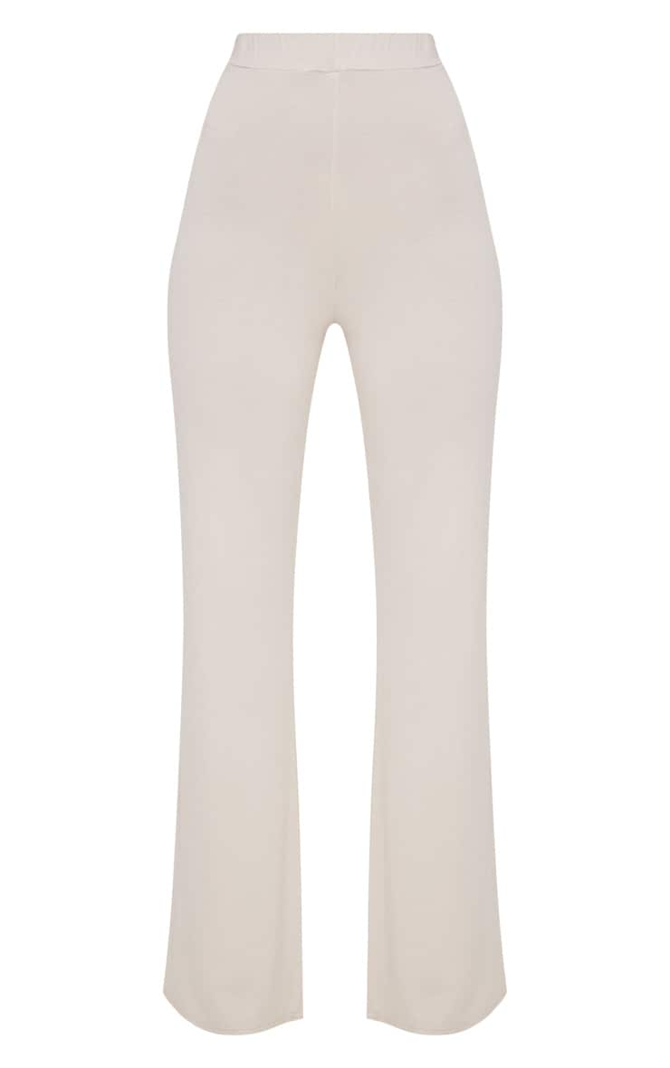 Stone Basic Jersey Wide Leg Trousers 3