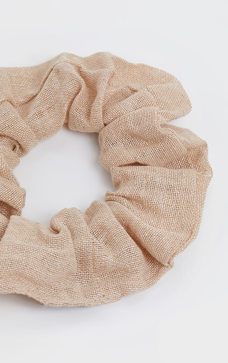 Sand Hessian Scrunchie 3