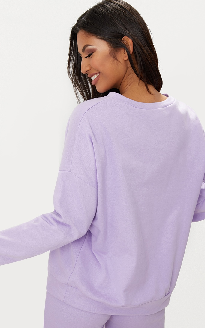 Lilac Oversized Sweater  2