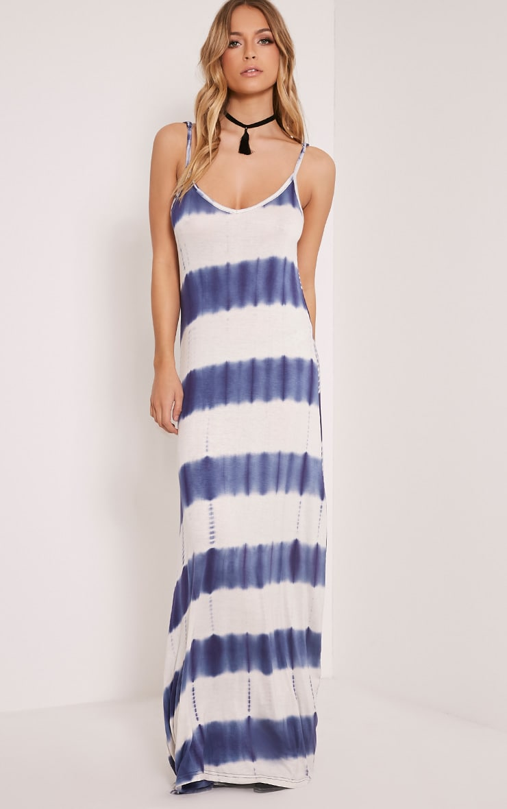 Ranita Blue Tie Dye Maxi Dress 6