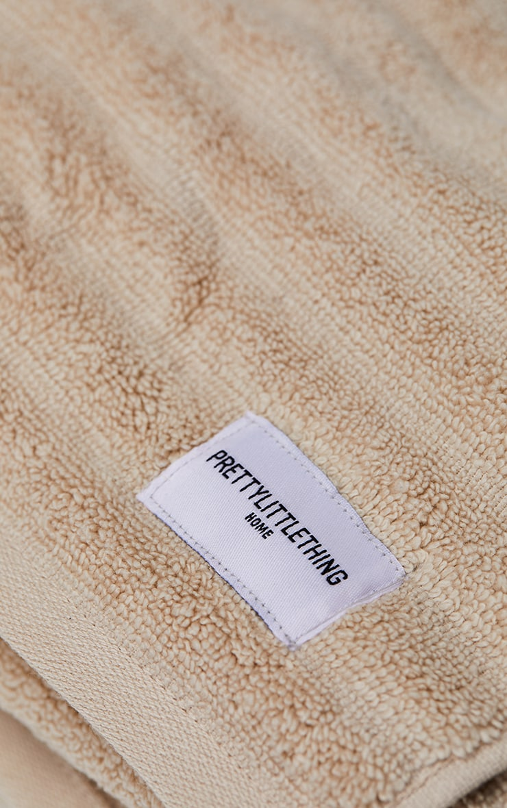 Natural Textured Ribbed 2 Pack Cotton Hand Towels 5