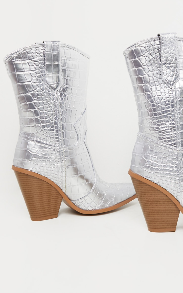 Silver Heeled Western Boot 3