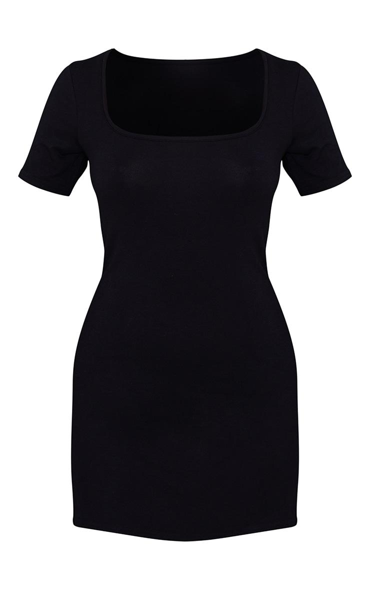 Black Square Neck Shift Dress 5