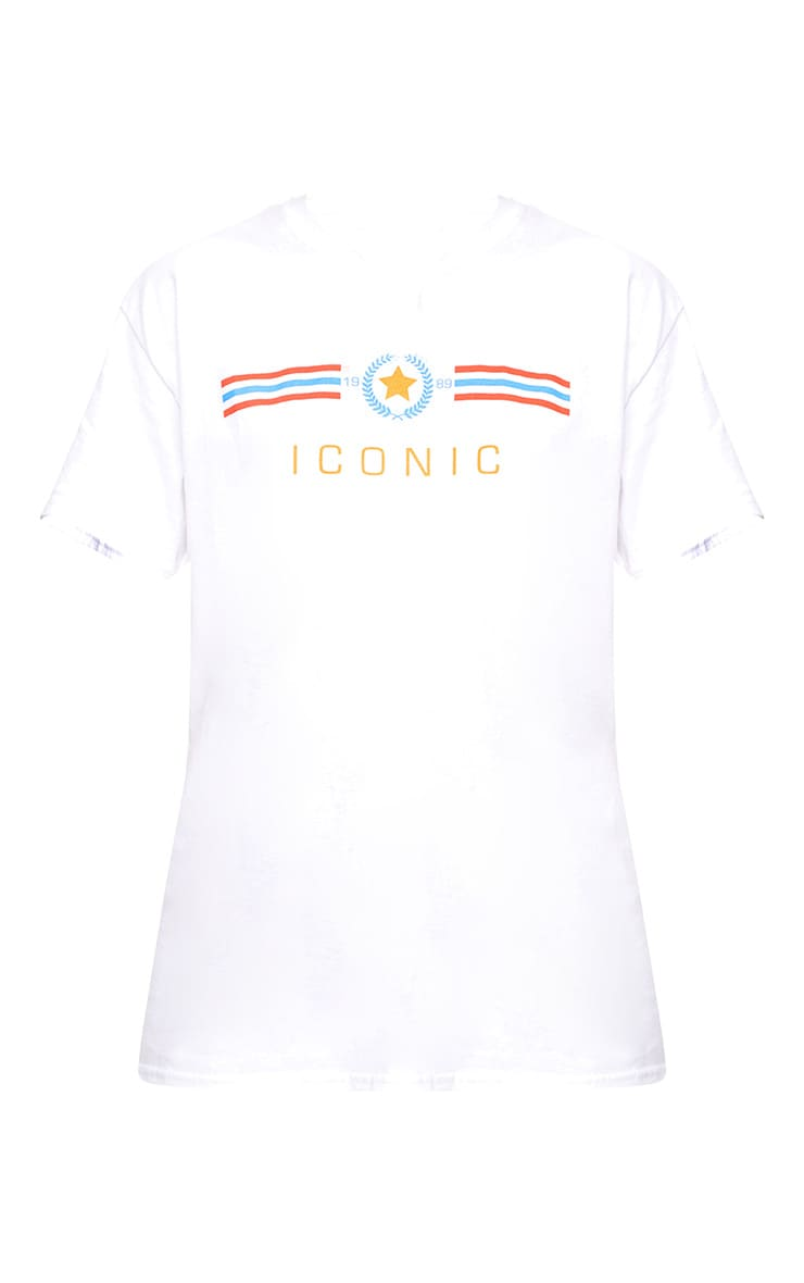 White Iconic Slogan T Shirt 3