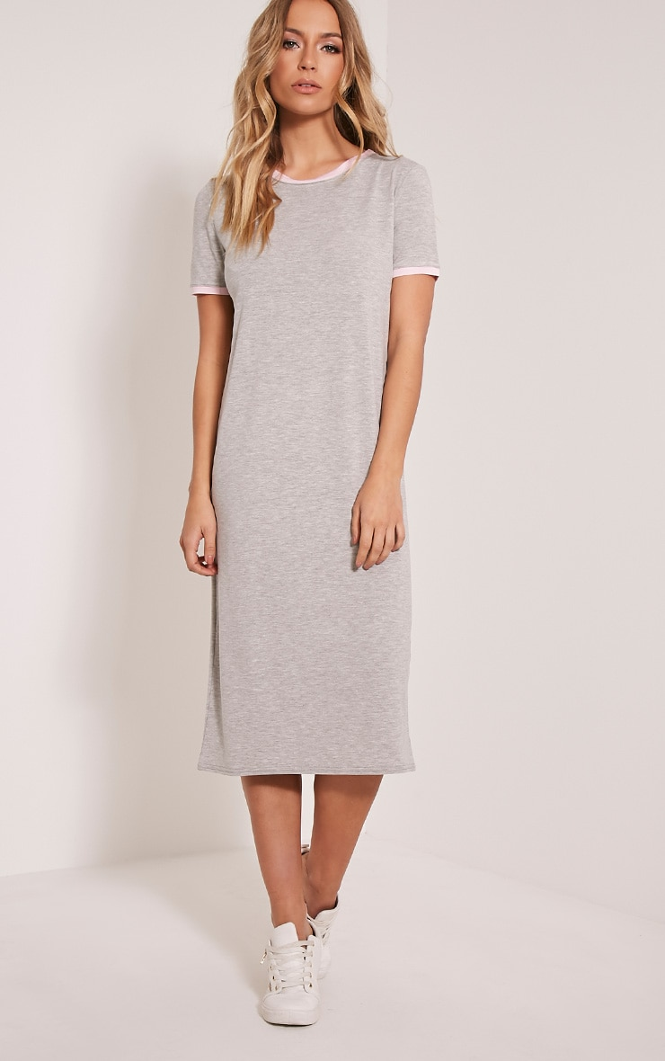 Nikko Contrast Binding Midi Dress 1