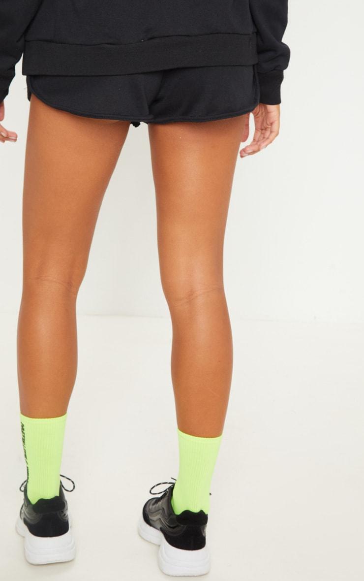 Black Basic Gym Sweat Short 4