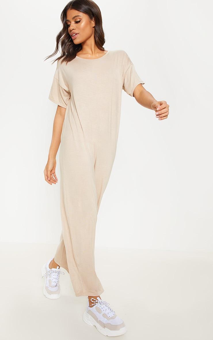 Nude Oversized T Shirt Culotte Jumpsuit 1