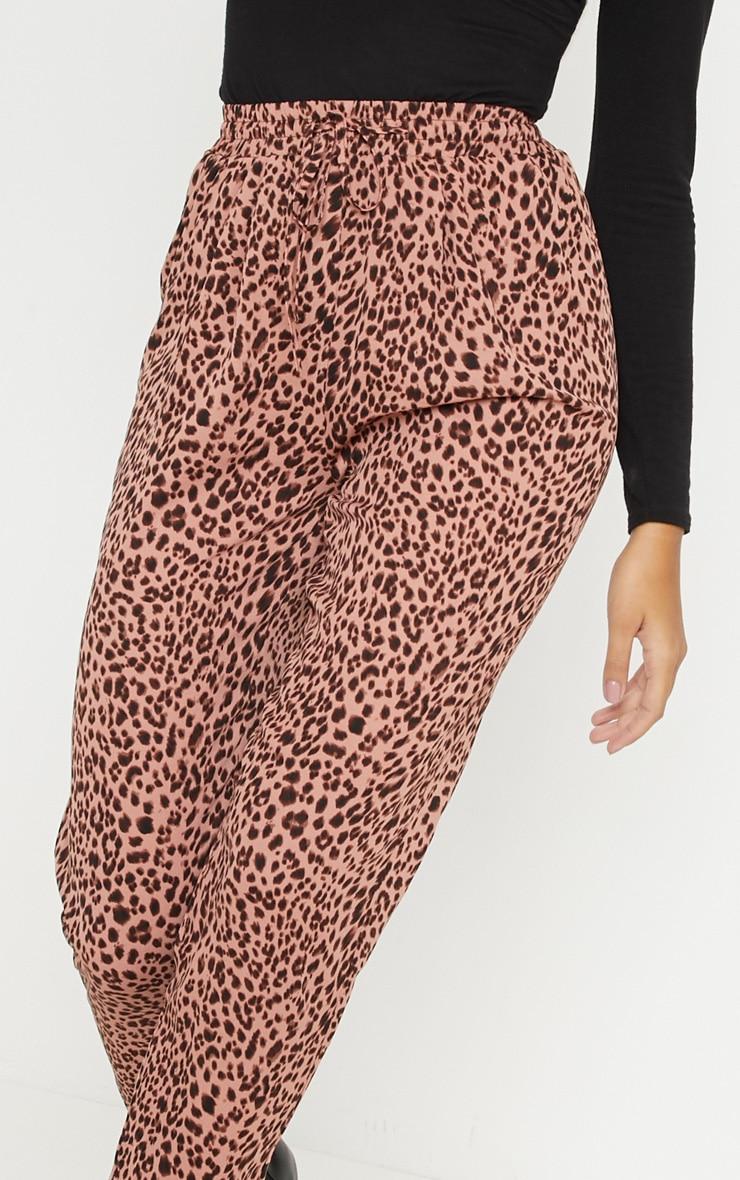 Pink Leopard Print Cigarette Jogger 5