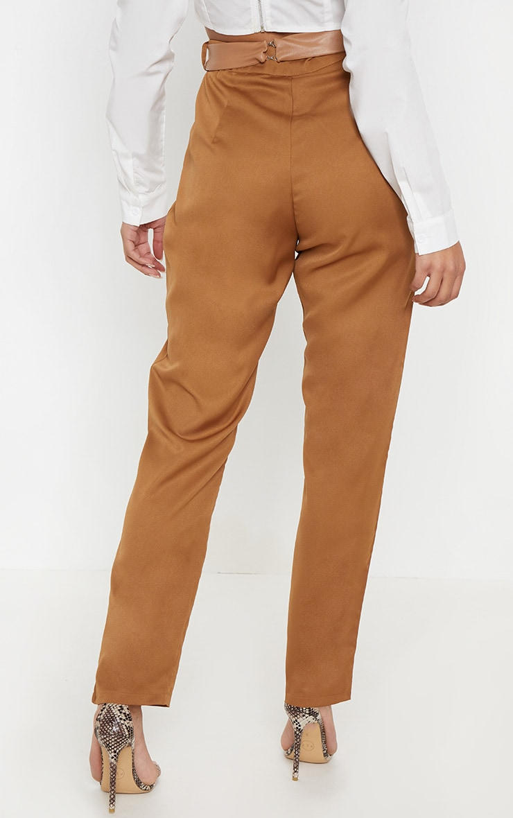 Camel Belt Bag Slim Leg Pants 4