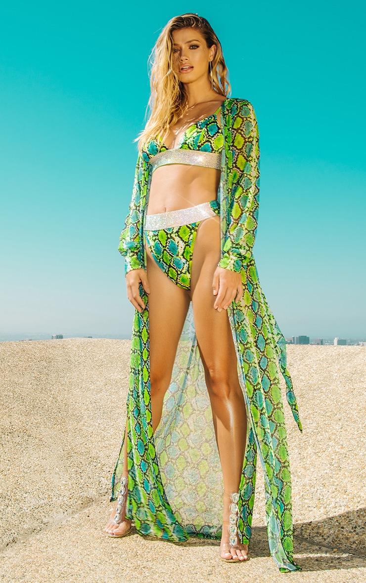 Green Snake Beach Kimono 1