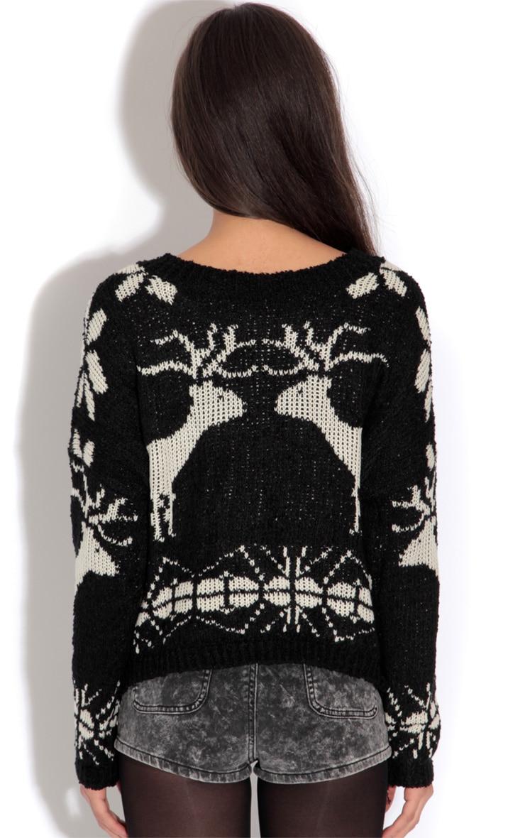 Black Reindeer Jumper-One Size 2