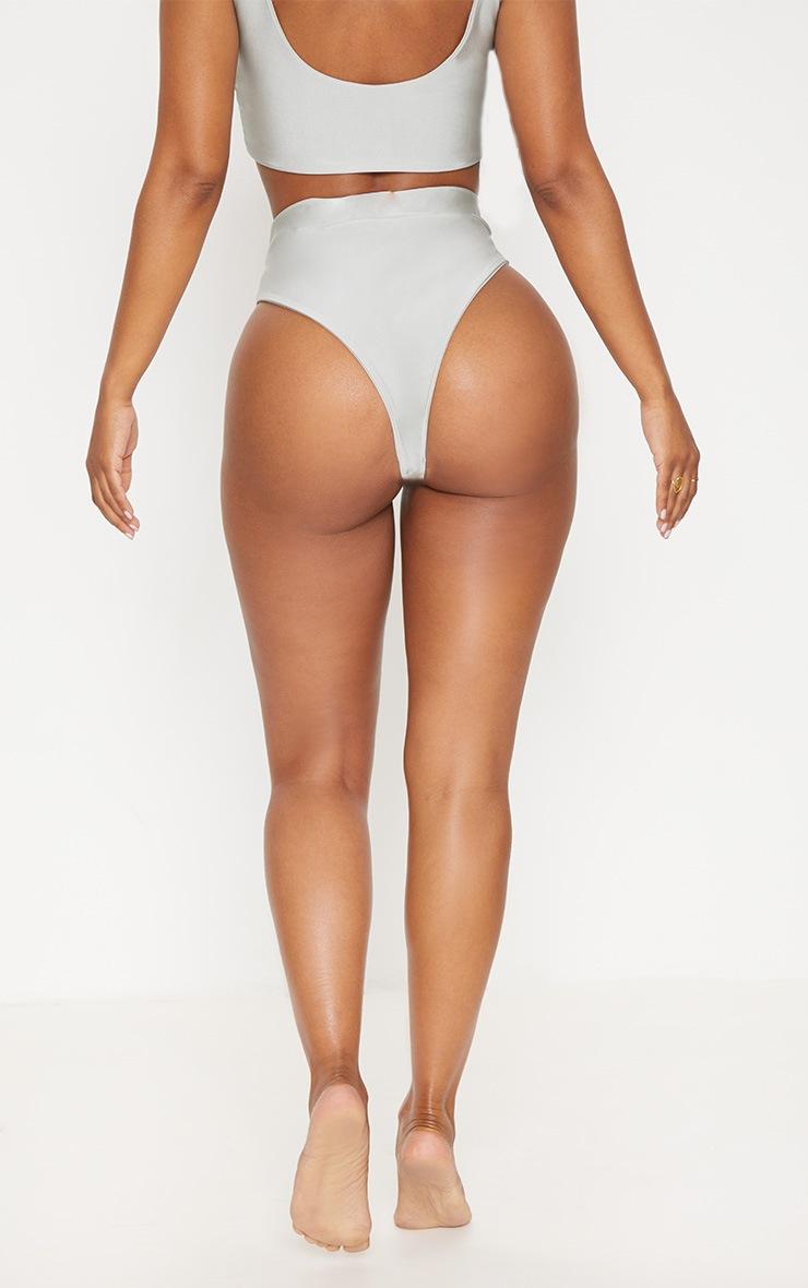 Shape Sage Green Extreme High Leg Bikini Bottom 3