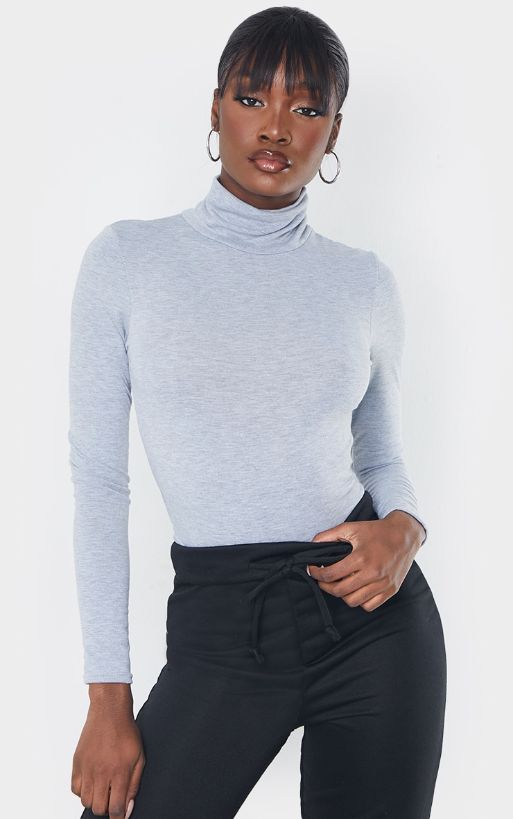Tall - Body col roulé gris 1