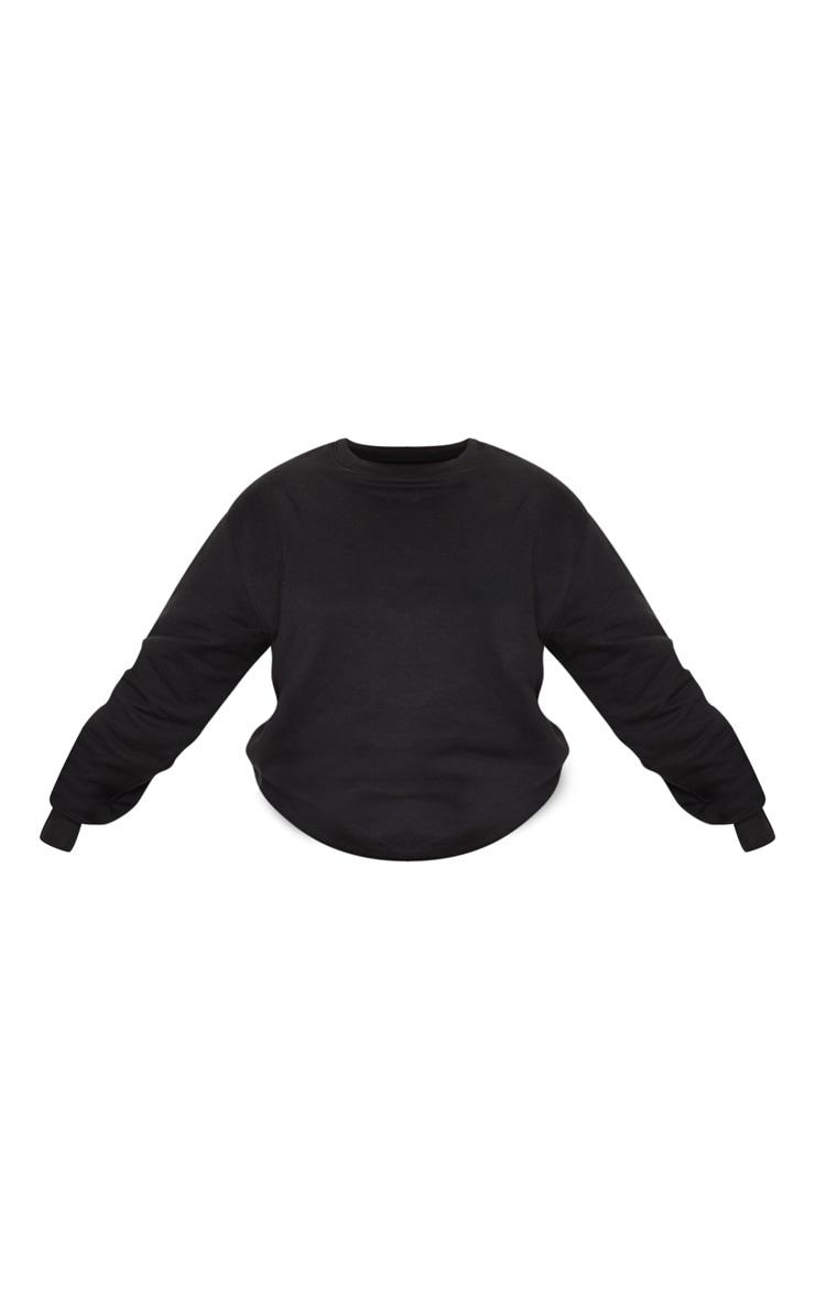 PLT Plus - Sweat oversize noir classique 5