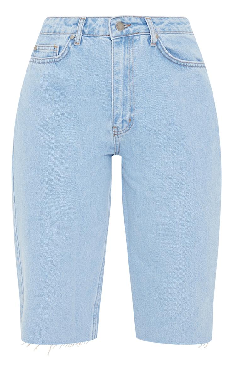 Light Blue Wash Belted Mom Fit Jeans 5