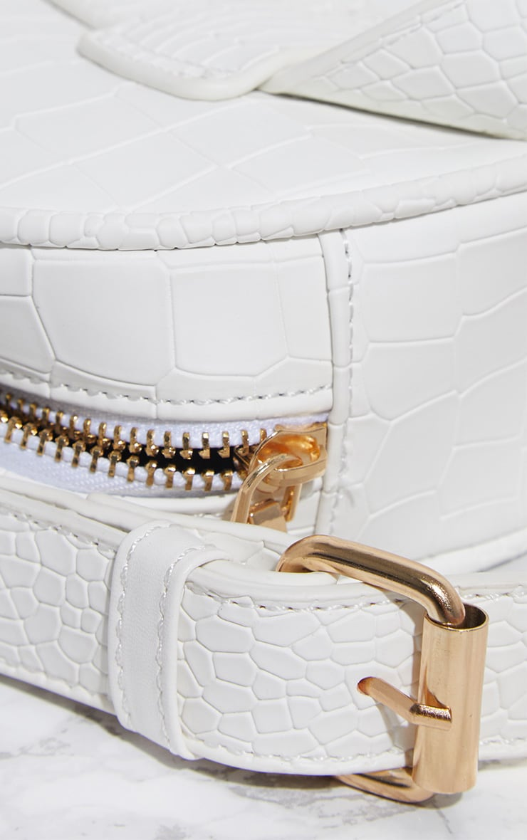 White Croc Large Bum Bag 3
