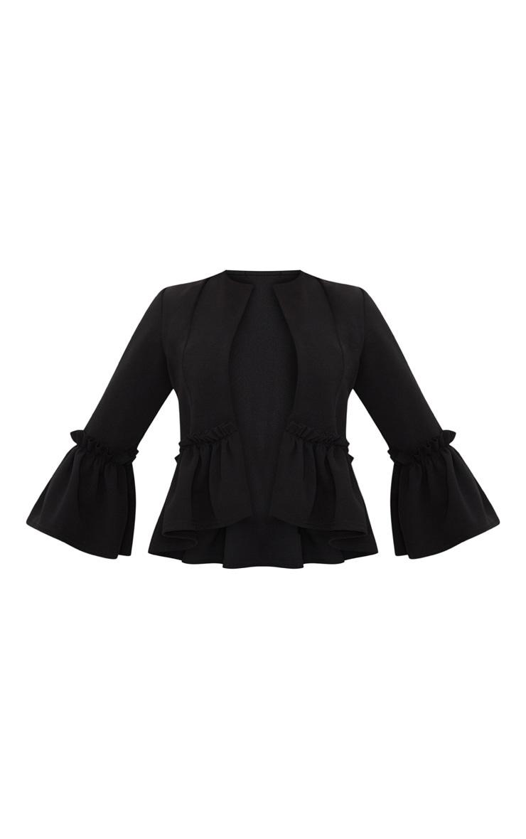 Veste de blazer noire avec volants 3