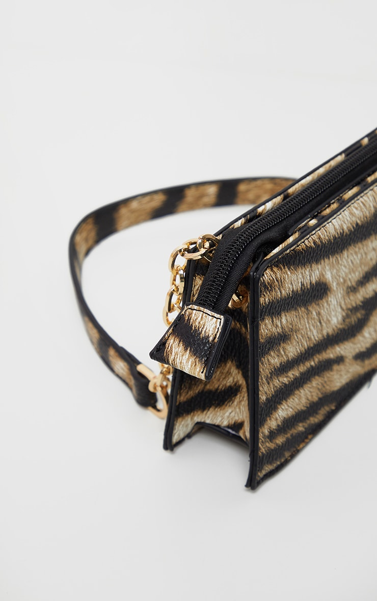 Tiger Chain Handle 90s Shoulder Bag 4