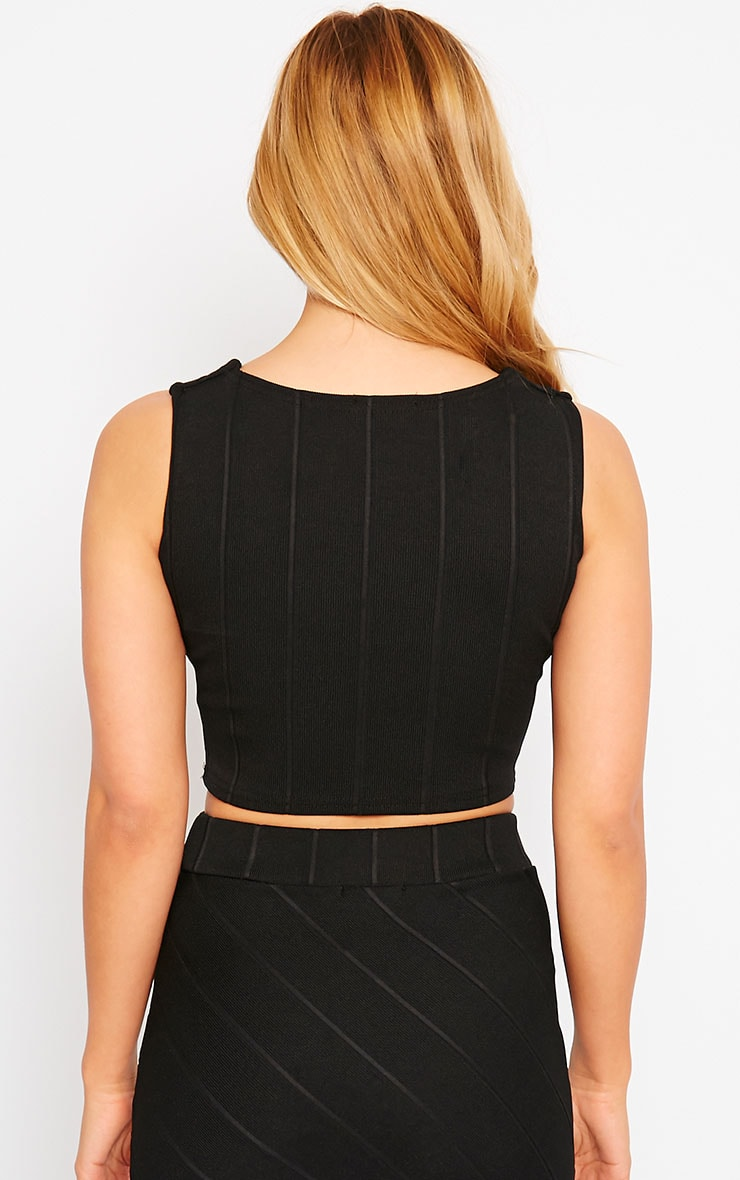 Kirsten Black Bandage Crop Top 2