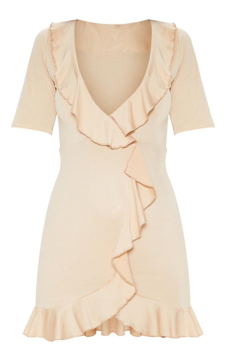 Stone Frill Detail Wrap Dress 3