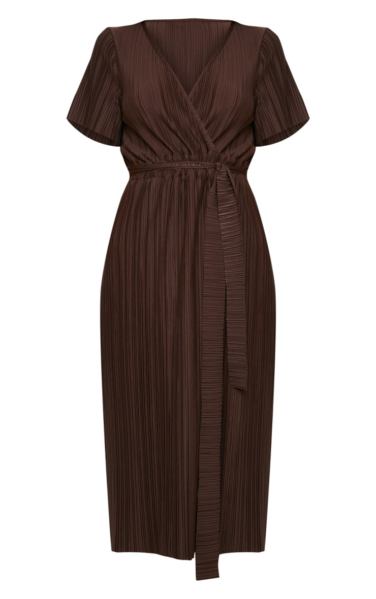 Chocolate Pleated Midi Dress 3