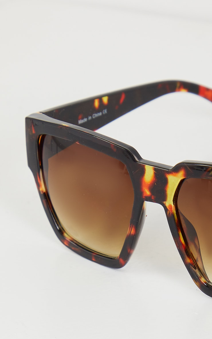 Tortoiseshell Oversized Square Sunglasses 4