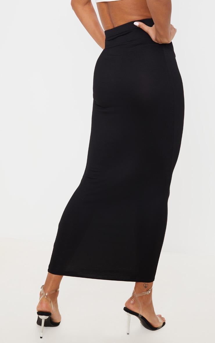 Black Basic Maxi Skirt 4