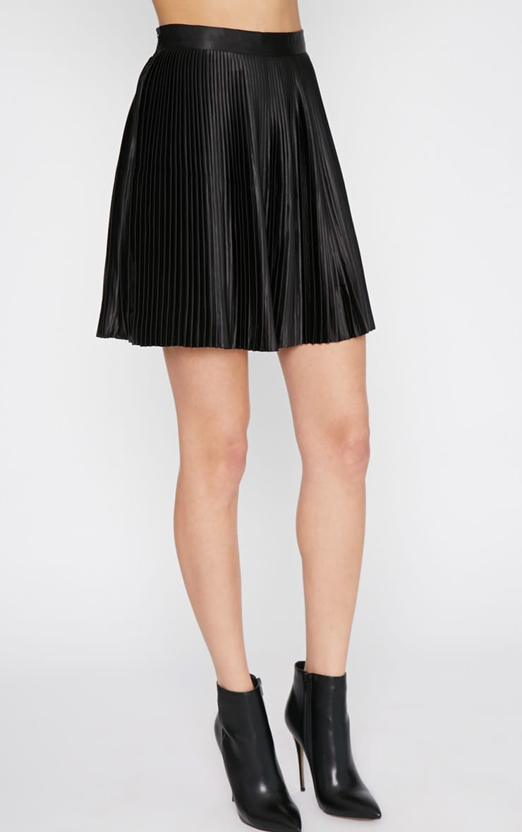 Samantha Black Pleated Mini Skirt  5