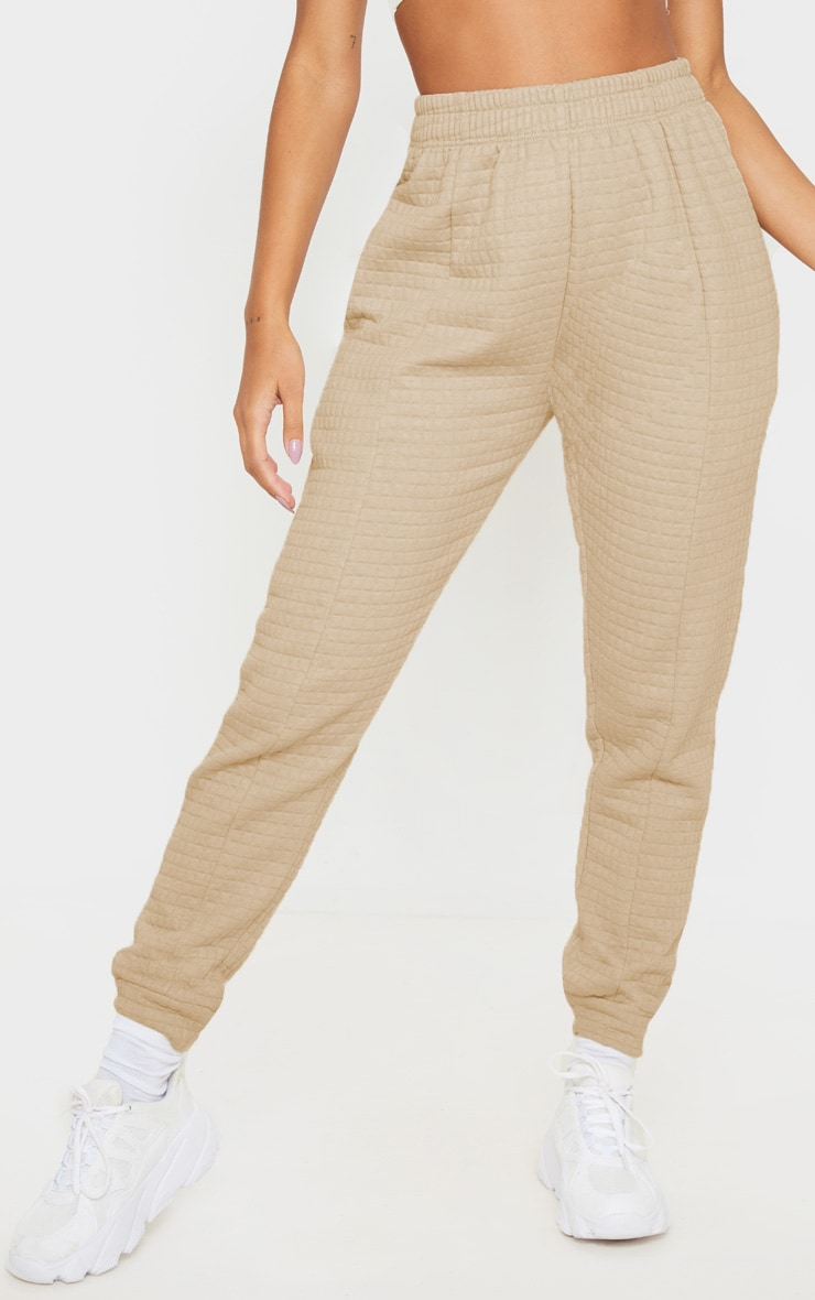 Camel Quilted Jogger 2
