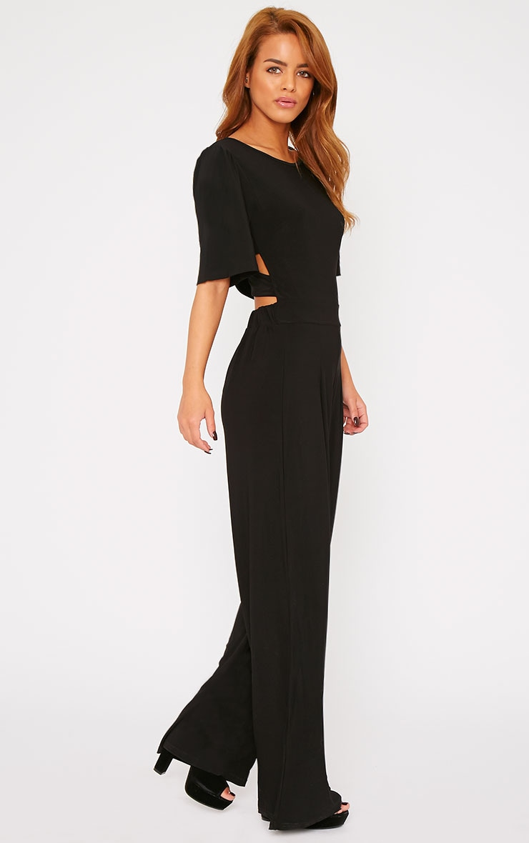 Trinity Black Cut Out Back Jumpsuit  1