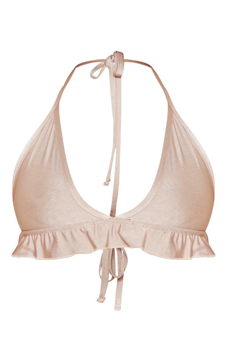 Nude  Frill Hem Bikini Top 3