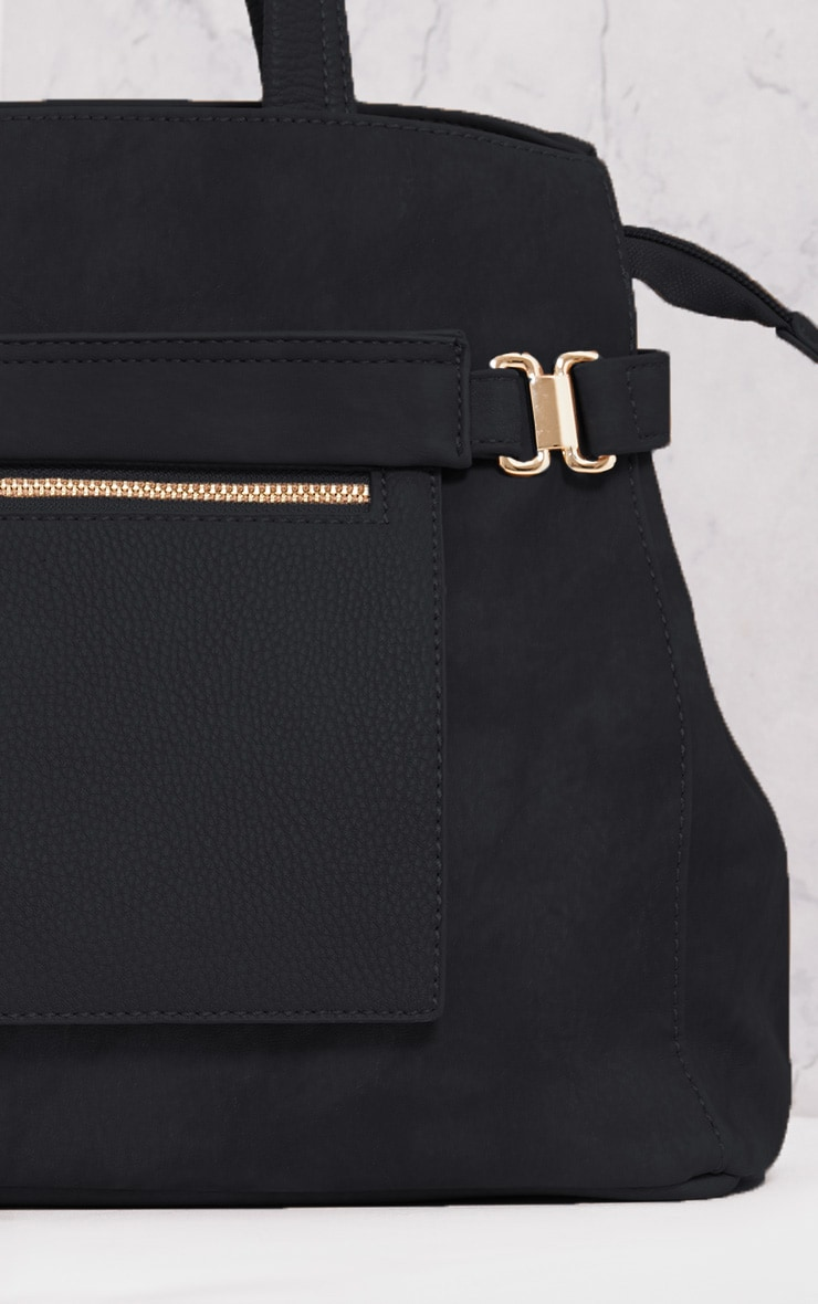 Daigan Black Pocket Tote Day Bag 4