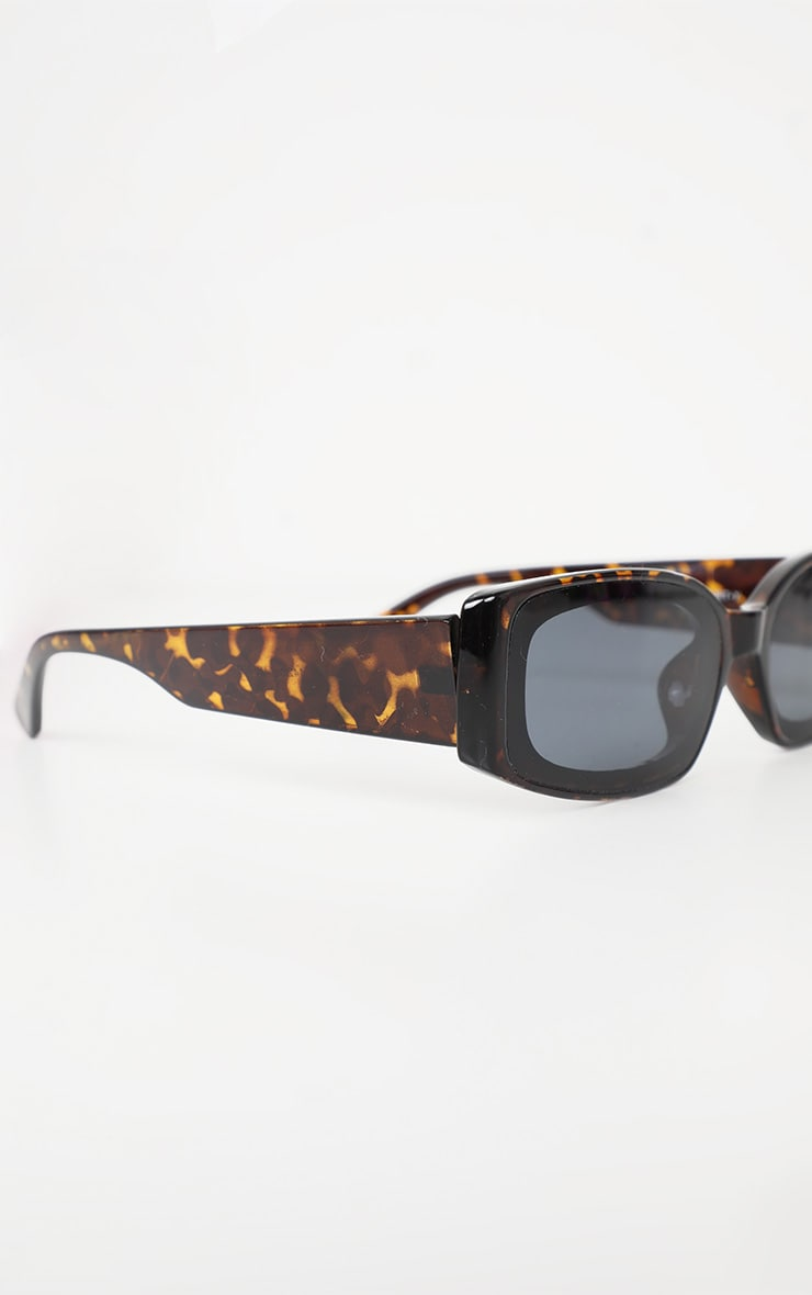 Brown Tortoiseshell Narrow Frame Sunglasses 3
