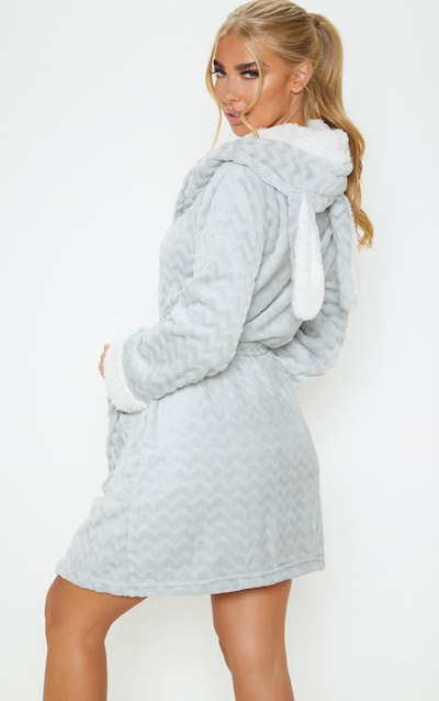 Grey Novelty Ears Dressing Gown