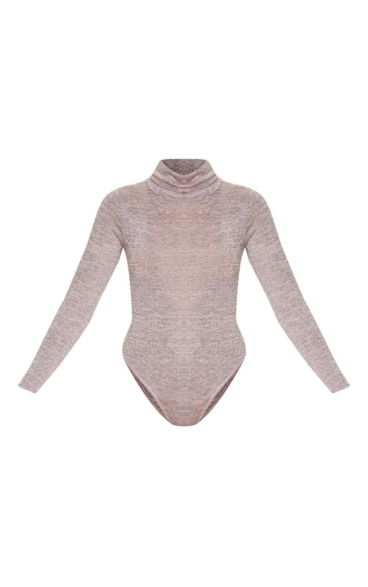 Blush Roll Neck Long Sleeve Bodysuit 3