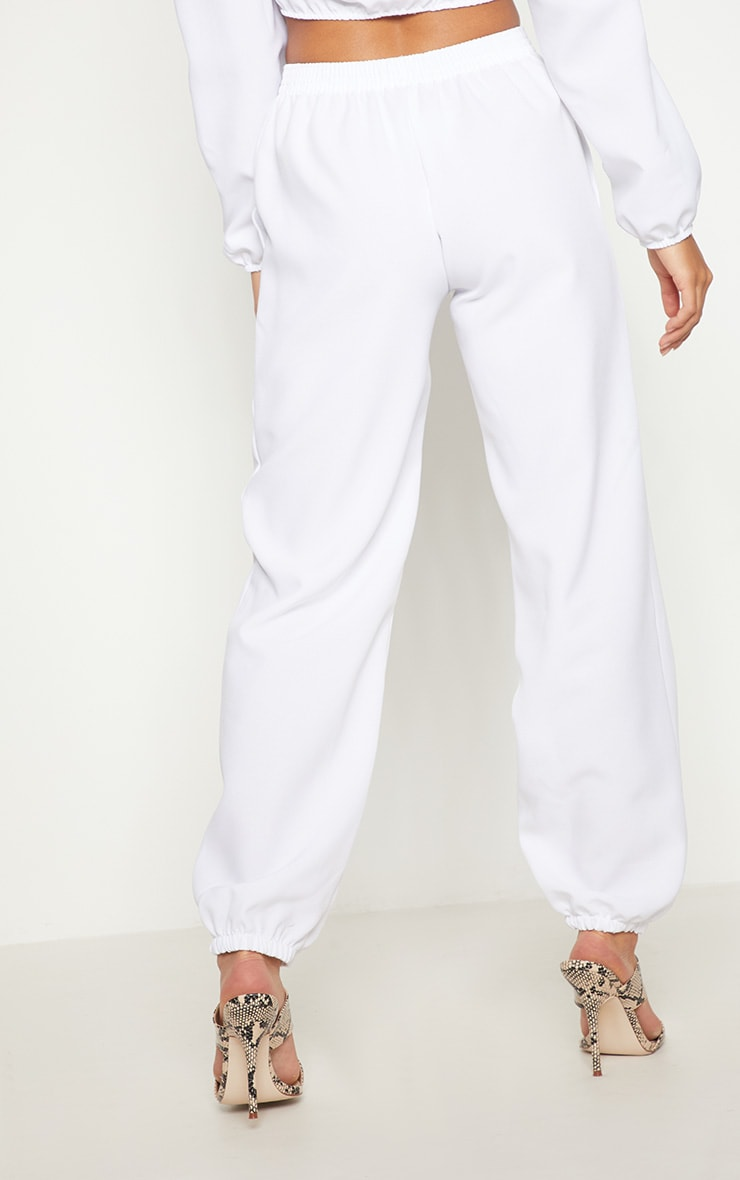 Petite White Cargo Trousers 4