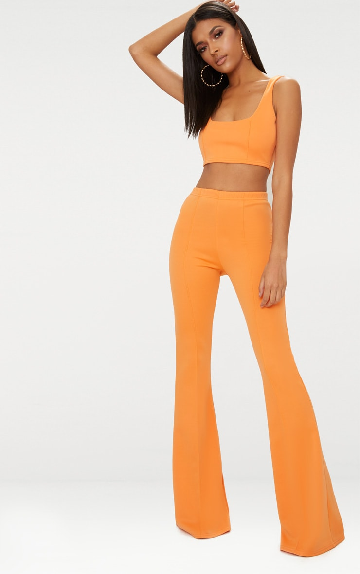 Tangerine High Waist Extreme Flare Long Leg Trousers 2